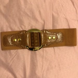 Brown and gold belt